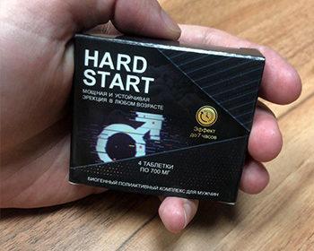 Капсулы hardstart для потенции в руке у мужчины